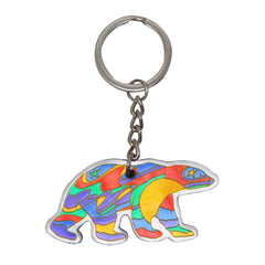 Dawn Oman Alpha Bear Metallic Key Chain