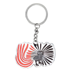 Kenojuak Ashevak Enchanted Owl Metallic Key Chain