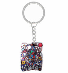Norval Morrisseau Man Changing into Thunderbird Metallic Key Chain