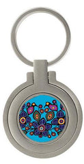 Norval Morrisseau Flowers and Birds Artist Photo Frame Key Holder