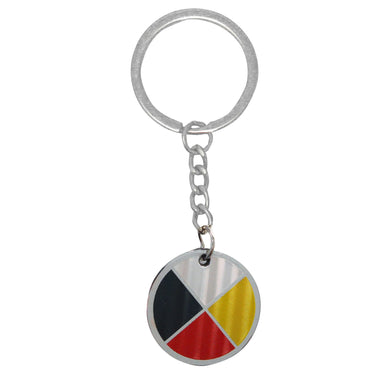 Medicine Wheel Metallic Key Chain - Oscardo