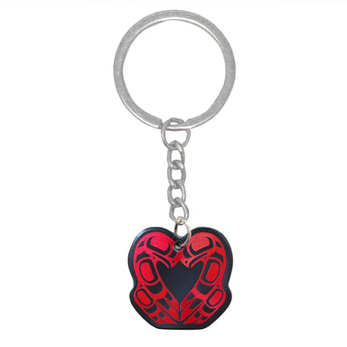 Roy Henry Vickers Eagle Heart Metallic Key Chain - Oscardo
