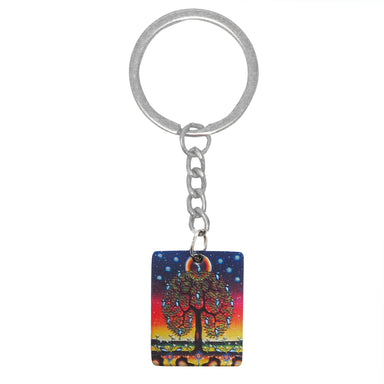 James Jacko Tree of Life Metallic Key Chain - Oscardo