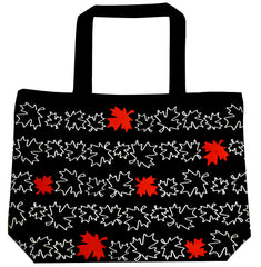 Maple Leaf Printed Tote