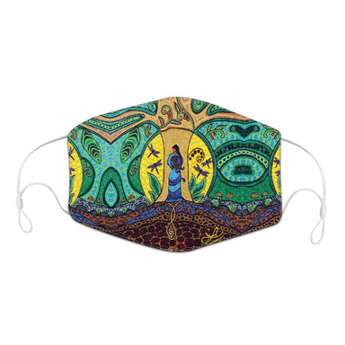 Leah Dorion Strong Earth Woman Reusable Face Mask - Oscardo