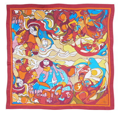 'Indian in Transition' Silk Scarf - Oscardo