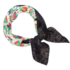 Dawn Oman Spring Bear Silk Neckerchief