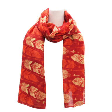 Feathers Red Scarf - Oscardo