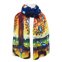 James Jacko Tree of Life Artist Scarf