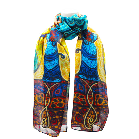 Leah Dorion Strong Earth Woman Artist Scarf