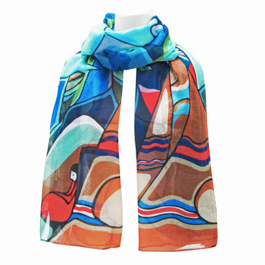 Daphne Odjig And Some Watched the Sunset Dancer Artist Scarf - Oscardo