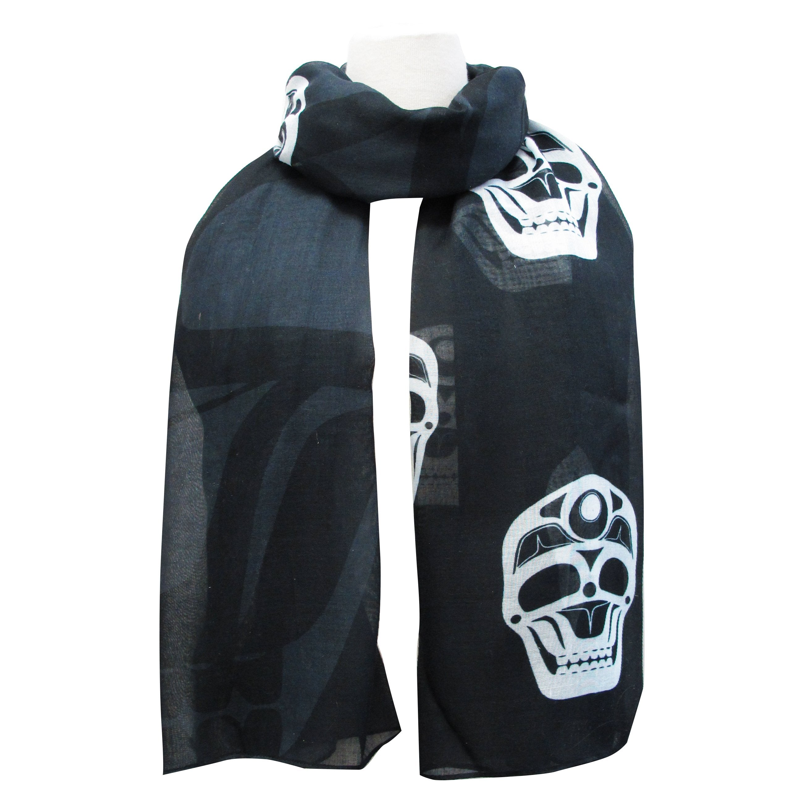 James Johnson Skull Artist Scarf