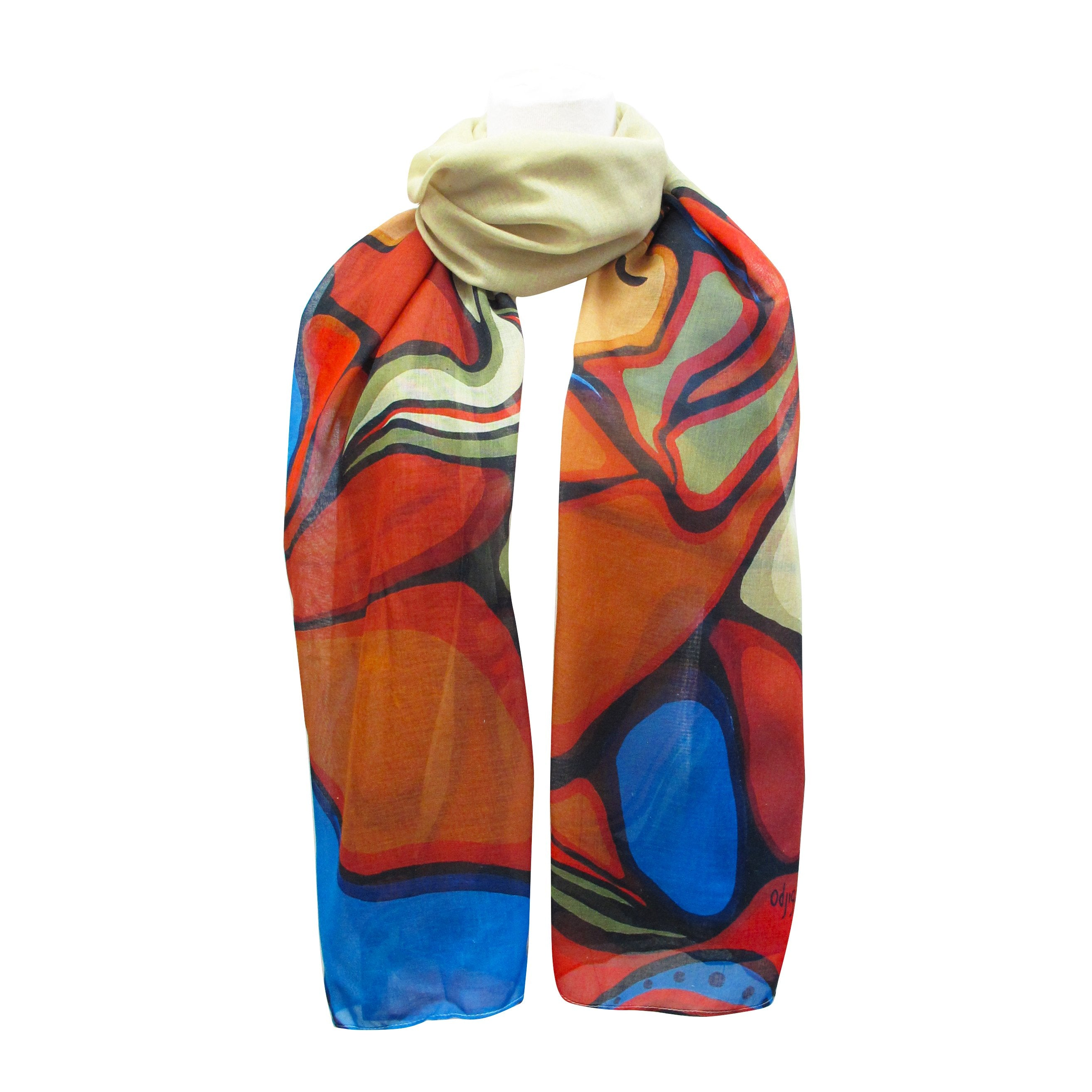 Daphne Odjig Moment of Commitment Artist Scarf