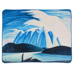 Lawren Harris Lake and Mountains Plush Throw