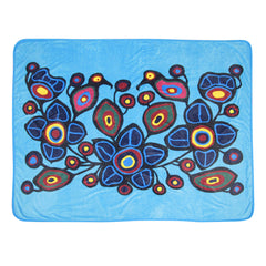 Norval Morrisseau Flowers and Birds Plush Throw