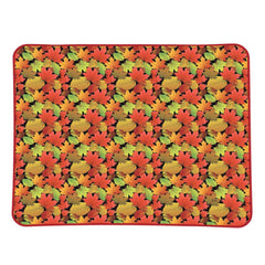 Fall Leaves Plush Throw