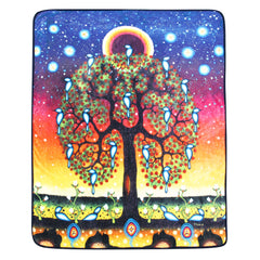 James Jacko Tree of Life Plush Throw
