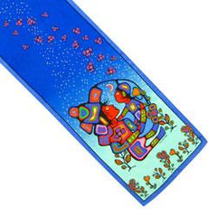 Norval Morrisseau Mother & Child Silk Oblong Scarf