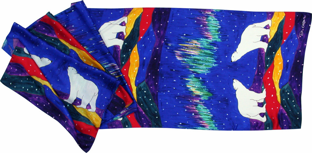 Dawn Oman Sky Watchers Silk Oblong Scarf