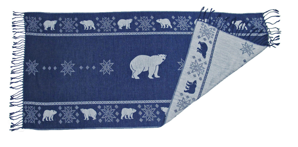 Polar Bear Reversible Shawl