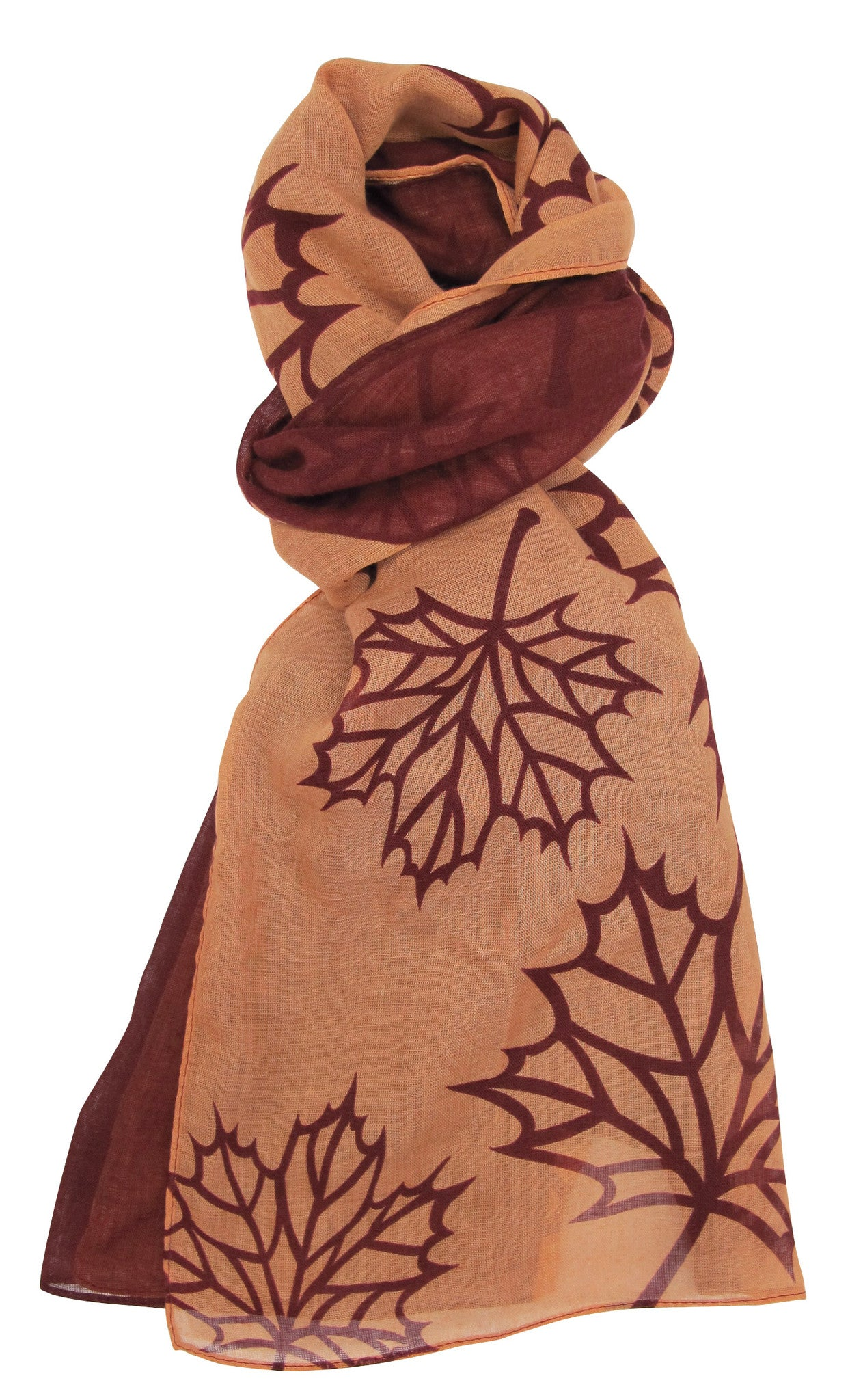 Maple Leaf Sheer Poly Scarf
