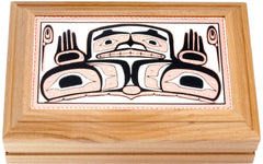 Native Bear Rectangular Wooden Box