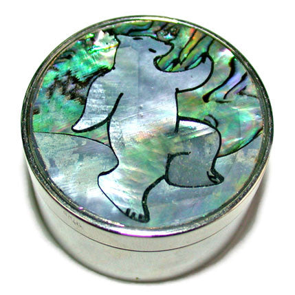 Dancing Polar Bear-With Canada Genuine Shell Pill Box
