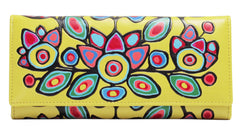 Norval Morrisseau Floral on Yellow Wallet