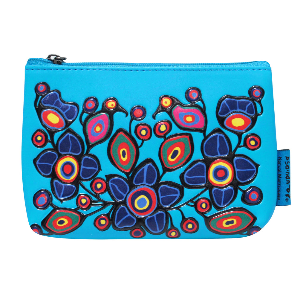 Norval Morrisseau Flowers and Birds Coin Purse