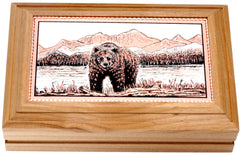 Bear Rectangular Wooden Box