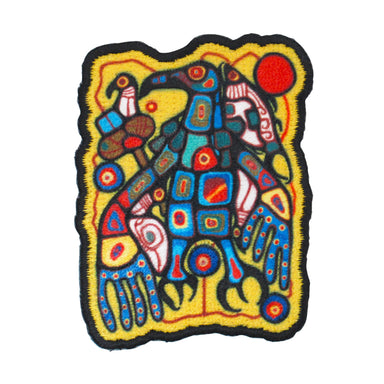 Norval Morrisseau Man Changing into Thunderbird Iron-on Patch - Oscardo