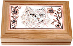 Cat Rectangular Wooden Box