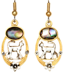 Cat Ocean Dance Earrings