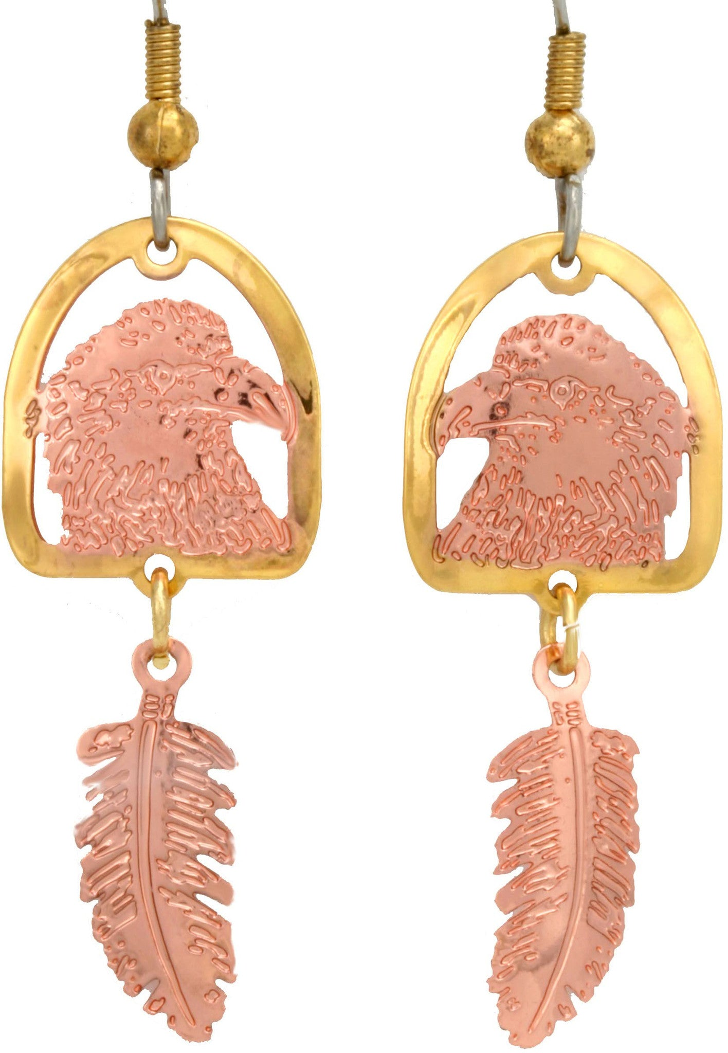 Eagle and Wolf Cut-out Earrings