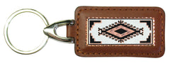 Native Design Rectangular Leather Key chain
