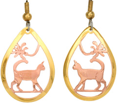 Cat Cut-out Earrings