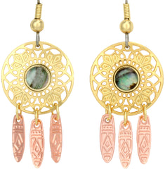 Dreamweaver with Abalone Cut-out Earrings