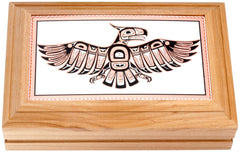 Native Thunderbird Rectangular Wooden Box