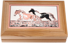 Horse Rectangular Wooden Box