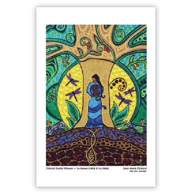 Leah Dorion Strong Earth Woman Art Card - Oscardo
