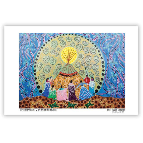 Leah Dorion Dancing Women Art Card