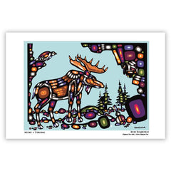 John Rombough Moose Art Card