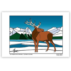 Jason Carter The Turning Elk at Winter Art Card