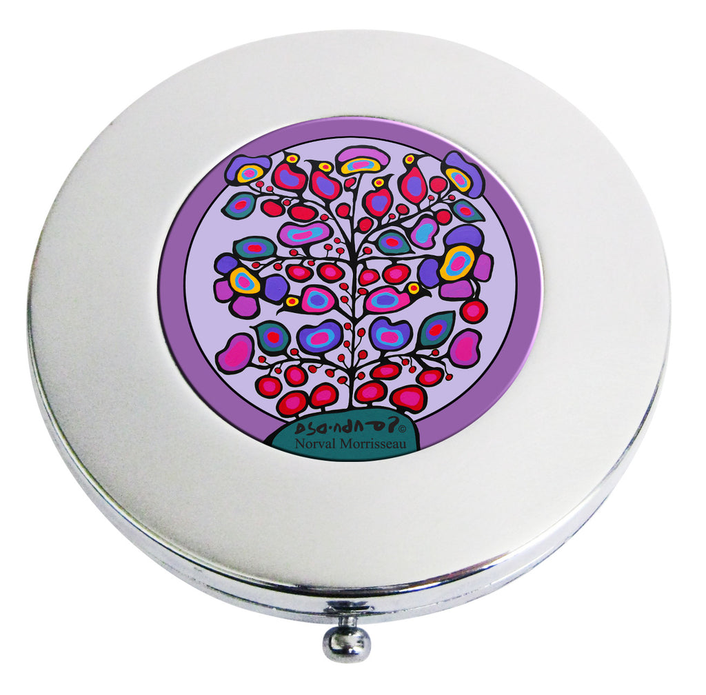 Norval Morrisseau Woodland Floral Compact Mirror