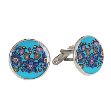 Norval Morrisseau Flowers and Birds Cufflinks - Oscardo