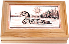 Native Loon Rectangular Wooden Box