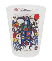 Norval Morrisseau Man Changes into Thunderbird Small Glass