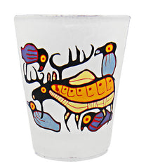 Norval Morrisseau Moose Harmony Small Glass