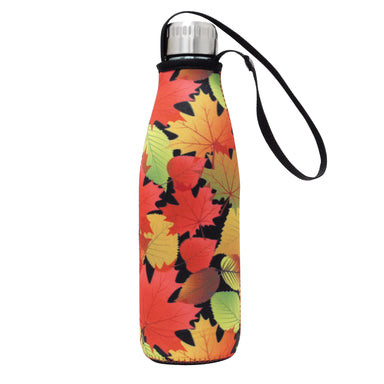 Fall Leaves Water Bottle and Sleeve - Oscardo