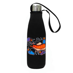 Norval Morrisseau Moose Harmony Water Bottle and Sleeve
